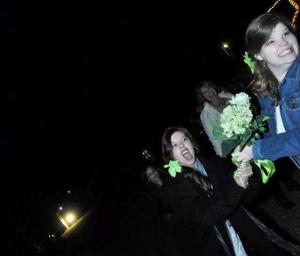 "My friend's sister actually caught the bouquet. I just ""attempted"" to steal it."